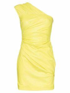 Versace one shoulder mini dress - Green
