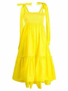 P.A.R.O.S.H. smock sun dress - Yellow