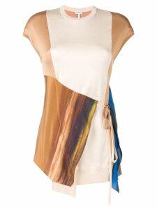 Loewe printed wrap shirt - Brown