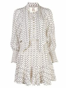 Figue Carlita dotted mini dress - White
