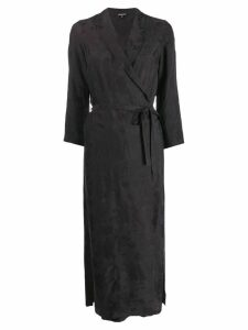 Ann Demeulemeester long-sleeve wrap midi dress - Black
