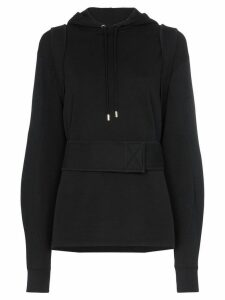 GmbH harness detail hoodie - Black