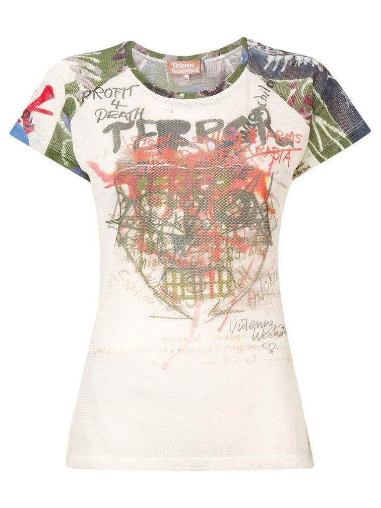 Vivienne Westwood 'Terror' print T-shirt - White