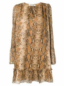 Diane von Furstenberg snakeskin print dress - Neutrals