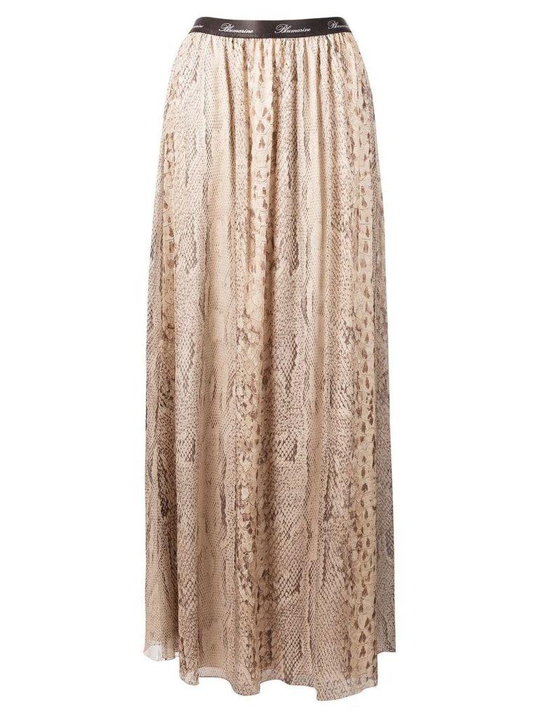 Blumarine lace panelled skirt - Neutrals