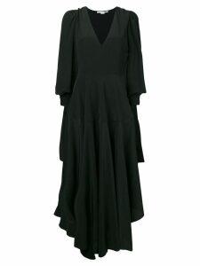 Stella McCartney v-neck asymmetric dress - Black