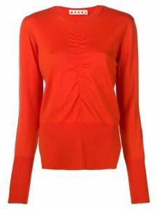 Marni gathered detail jumper - Orange