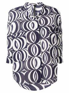 Sara Lanzi geometric shirt - Blue