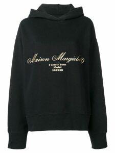 Mm6 Maison Margiela ribbon drawstring hoodie - Black