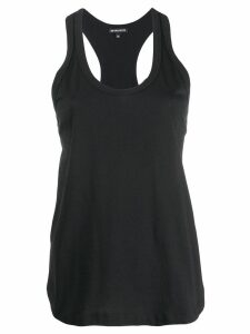 Ann Demeulemeester pleated-detail tank top - Black