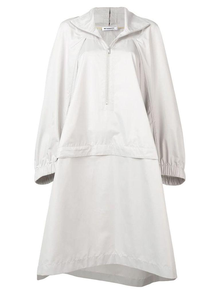 Jil Sander oversized raincoat - Grey