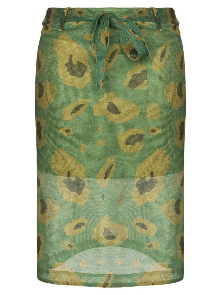 Asai Ghost camo print pencil skirt - Green