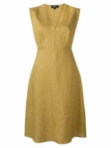 Theory structured v-neck midi dress - Neutrals