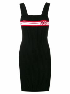 Gcds ribbed logo dress - Black