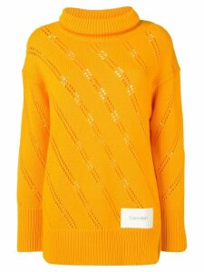 Calvin Klein oversized roll neck sweater - Yellow