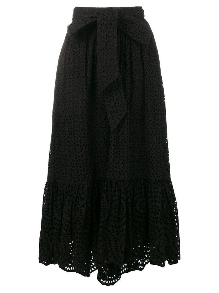 Ulla Johnson broderie anglaise skirt - Black
