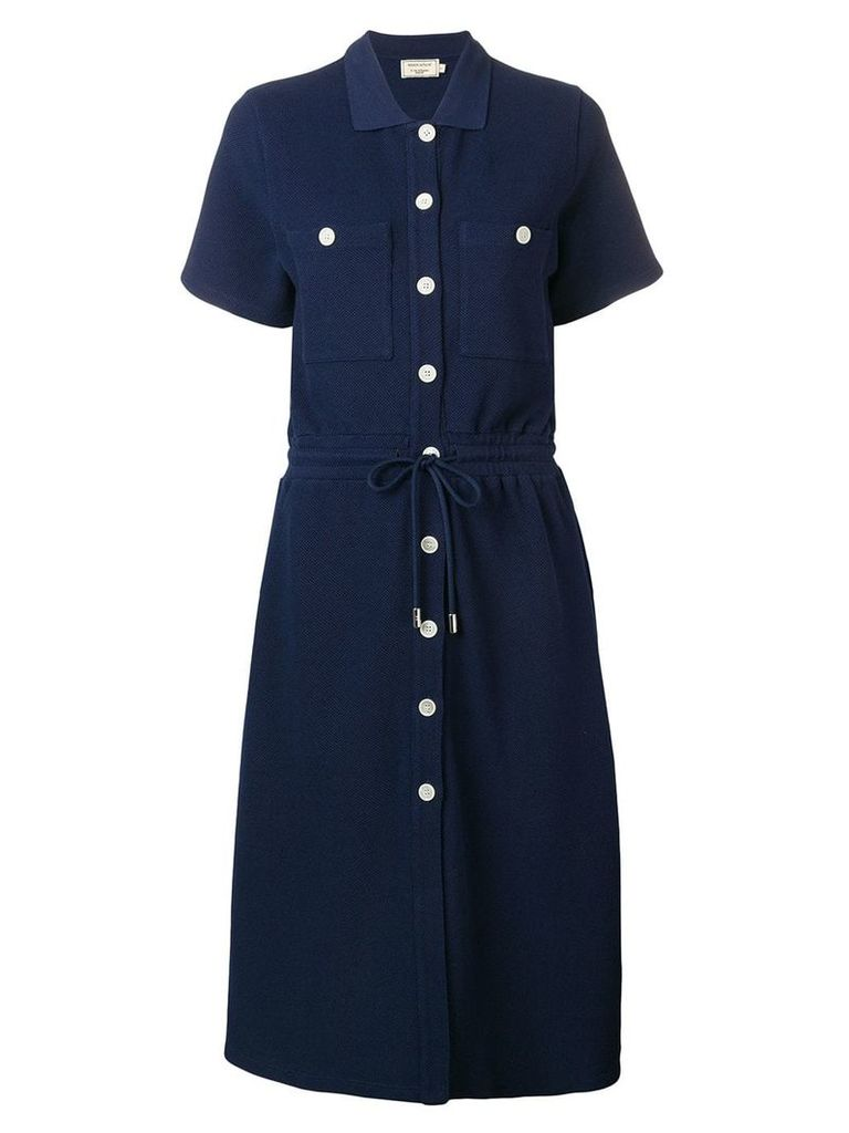 Maison Kitsuné button-up shirt dress - Blue