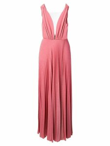 Elisabetta Franchi sparkle pleated gown - Pink
