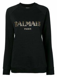 Balmain printed logo sweatshirt - Black
