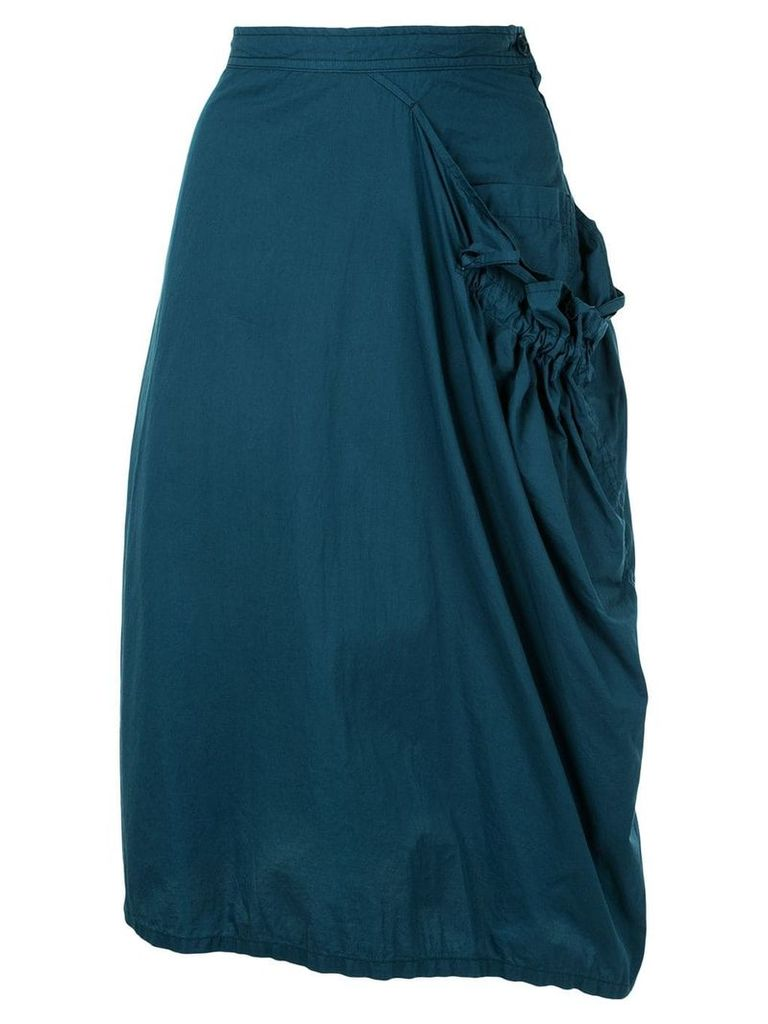 Y's draped midi skirt - Green