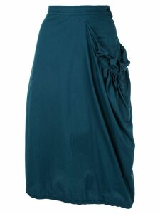 Y's draped midi skirt - Green