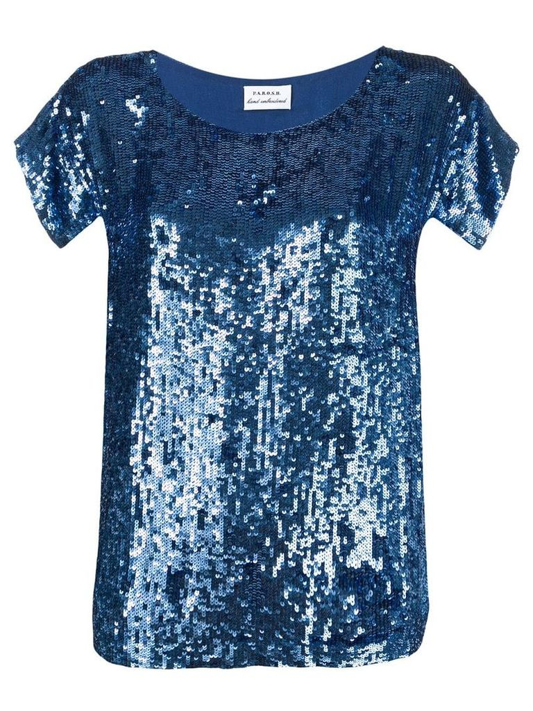 P.A.R.O.S.H. sequined top - Blue