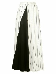 Layeur contrast paneled skirt - White