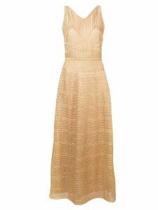 M Missoni patterned metallic dress - Gold