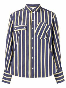 Maison Kitsuné striped shirt - Blue