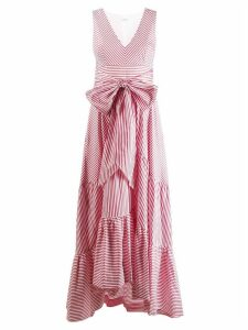 P.A.R.O.S.H. striped bow dress - Red