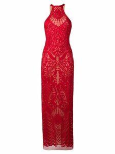Galvan atlas gown - Red
