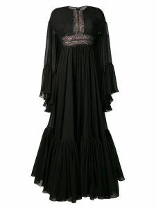 Giambattista Valli lace-trimmed maxi dress - Black