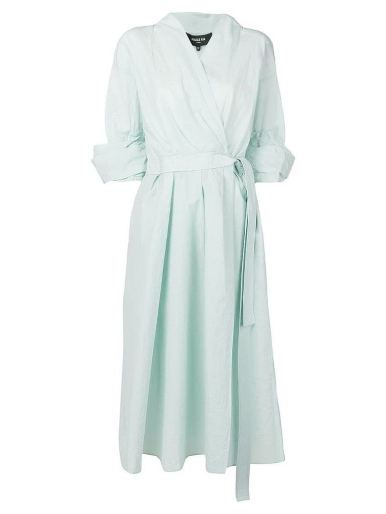 Paule Ka wrap midi dress - Blue