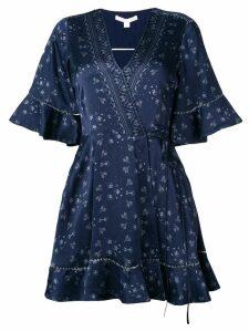 Jonathan Simkhai ruffle-trimmed wrap dress - Blue