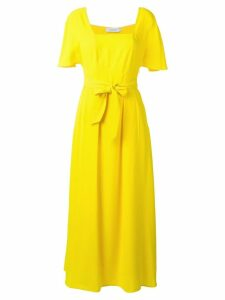 Calvin Klein belted maxi dress - Yellow