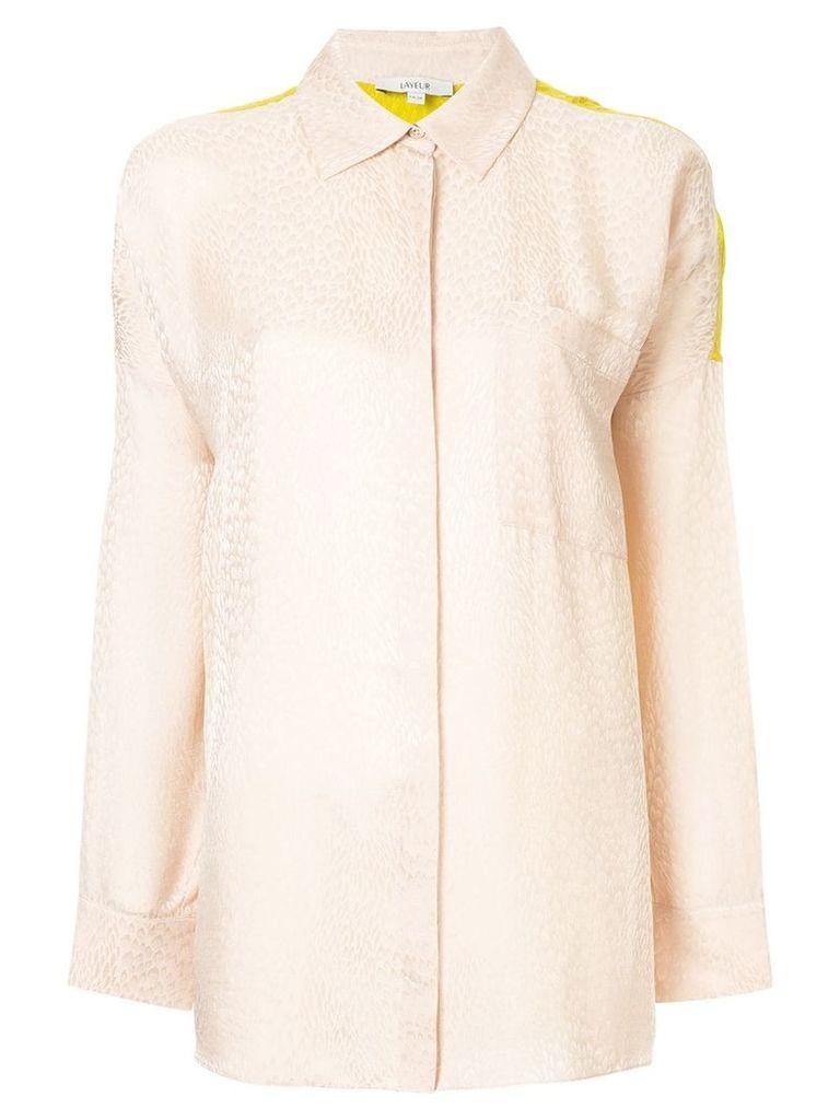 Layeur contrast back shirt - Brown