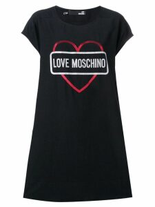 Love Moschino Heart logo print T-shirt dress - Black