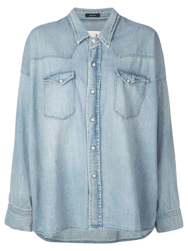 R13 Oversized Western Shirt - Blue