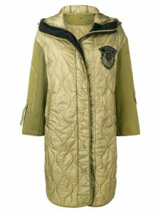 Ermanno Scervino quilted parka coat - Green