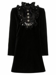 Saint Laurent sequin embellished A-line dress - Black