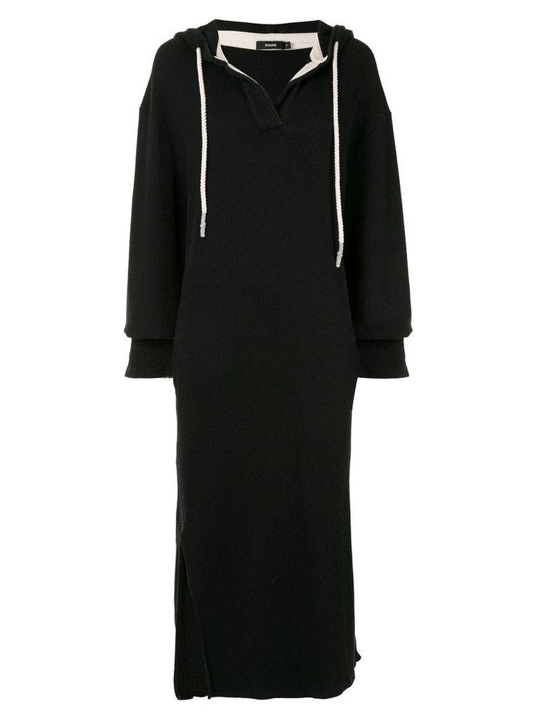 Bassike hooded sweater dress - Black