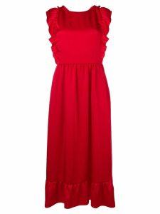 Red Valentino cross strap back dress