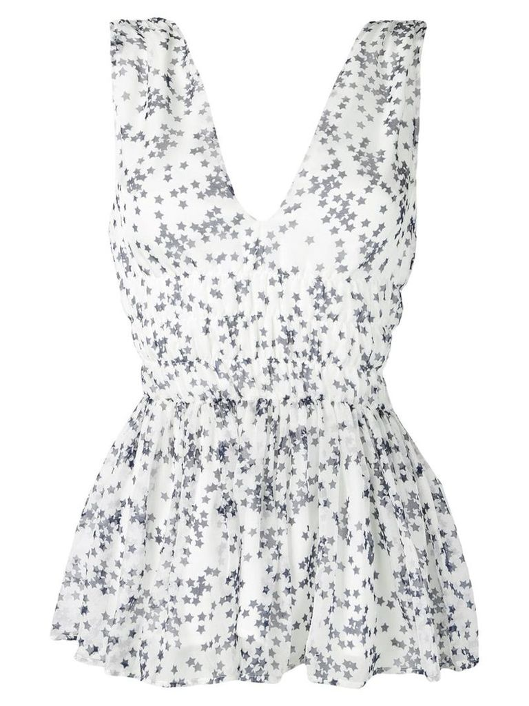 P.A.R.O.S.H. star print top - White