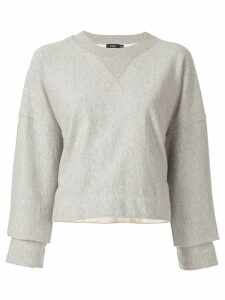 Bassike raw cut off sweatshirt - Grey
