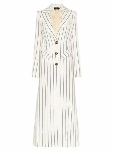 De La Vali Nial single-breasted striped coat - White