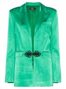 De La Vali Dean frog-closure blazer - Green