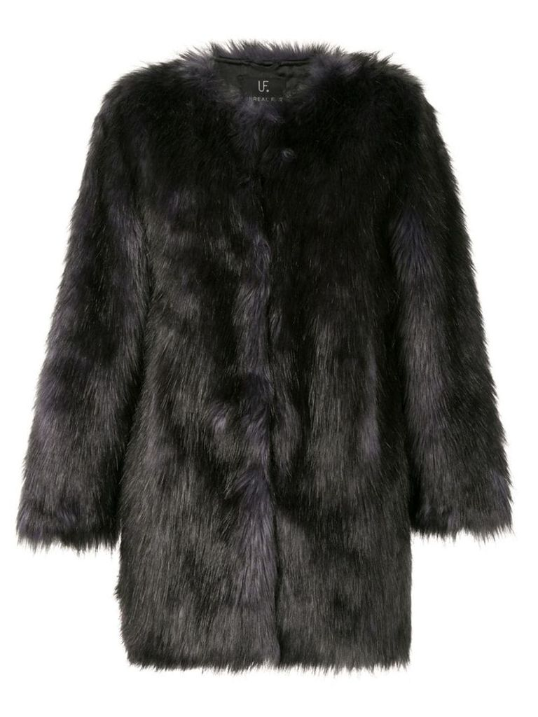 Unreal Fur faux fur Midnight Coat - Black