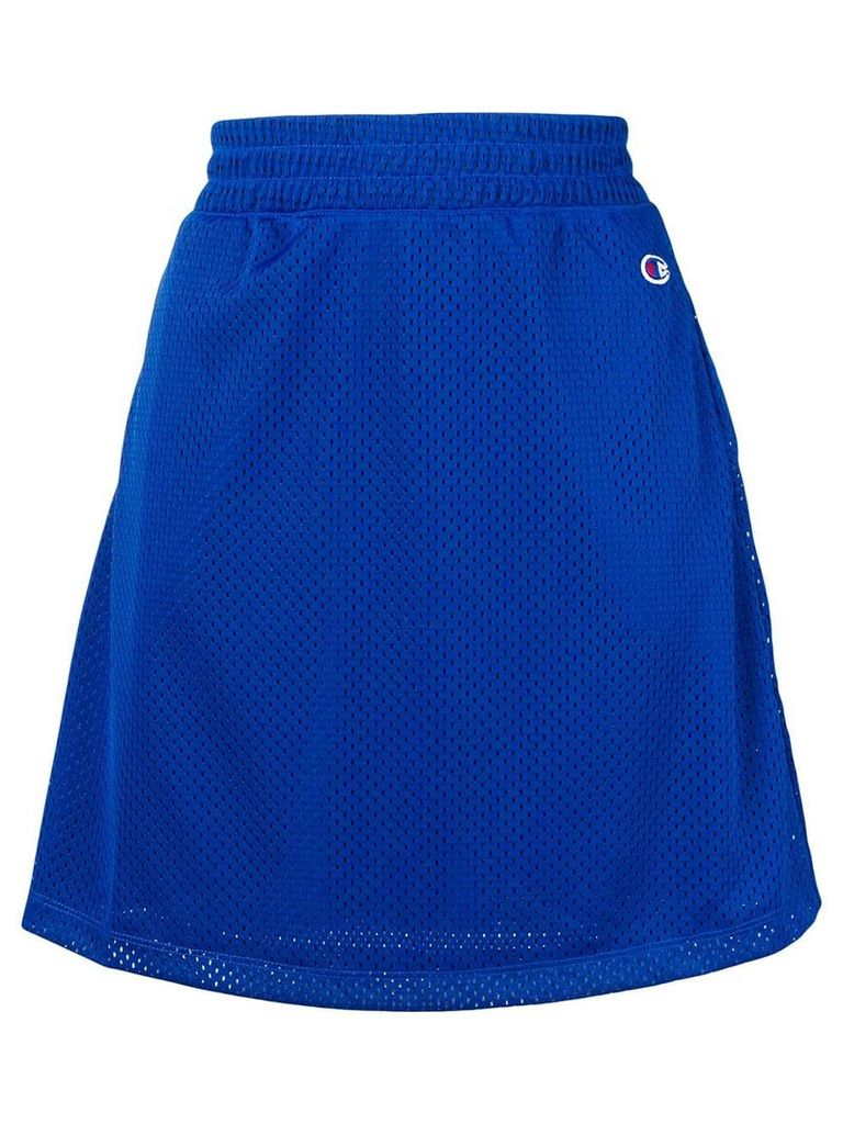 Champion embroidered logo perforated skirt - Blue