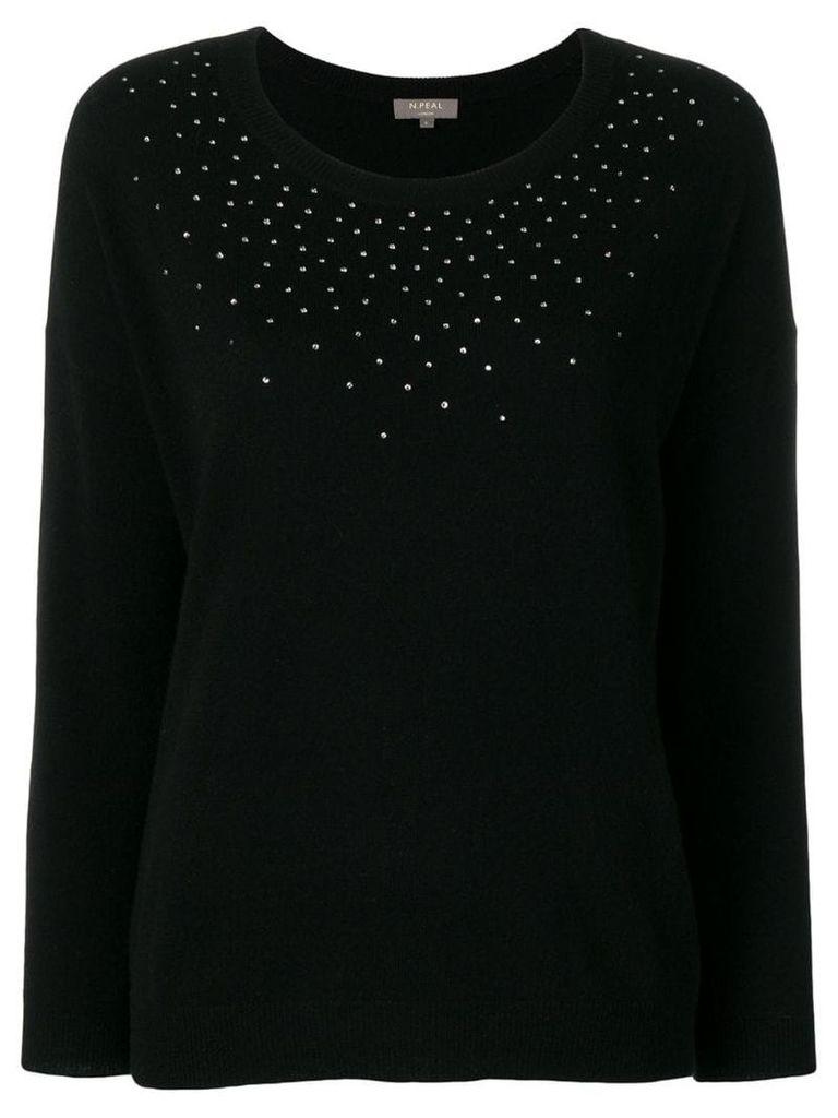N.Peal crystal-embellished jumperc - Black