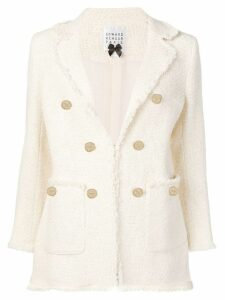 Edward Achour Paris structured tweed blazer - Neutrals